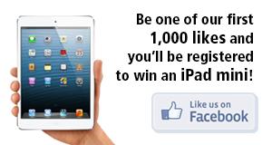 Like us on facebook and win an iPad mini!